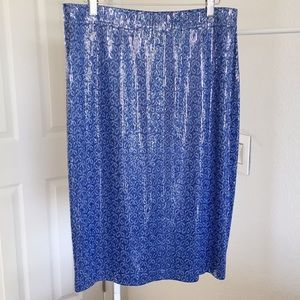 St. John evening sequin blue skirt. New!